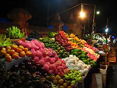デンパサールとナイトマーケット(海外の市場のオプショナルツアー)