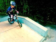 Skate park on the little bike (Jonathan Bateman) Tags: saul iphone twitter echofon