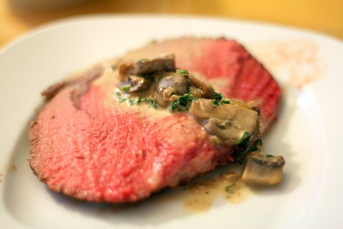 Prime Rib and Mushroom Cream Sauce
