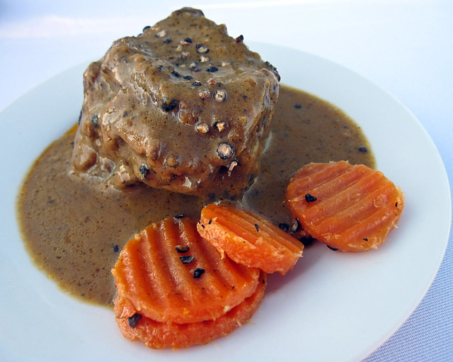Beef short ribs in peppercorn sauce from La Régalade