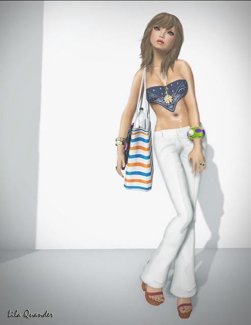 Fashionably Late 3 - elly:::bandana.top -navy & [Shag] - Voulez-Vous - kitten
