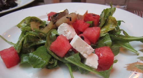 Arugula, feta, watermelon salad