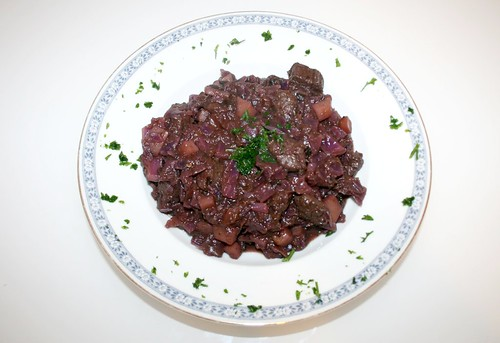 31 - Lamm-Rotkohltopf / Lamb red cabbage stew - Fertiges-Gericht