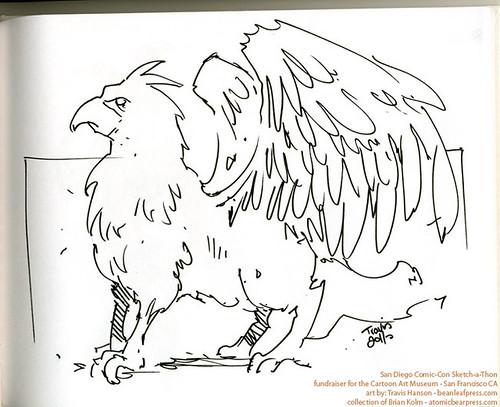SDCC2011 art commission - Griffin