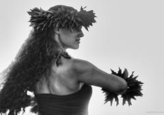 Hula Kahiko (Andy BealPhoto.com) Tags: portrait bw white black hawaii hula dancer maui hawaiian