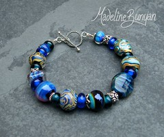 """Silver Glass Mixed bead Bracelet • <a style=""""font-size:0.8em;"""" href=""""https://www.flickr.com/photos/37516896@N05/6194420877/"""" target=""""_blank"""">View on Flickr</a>"""