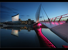 Catch light 2................. (Chrisconphoto) Tags: uk manchester salfordquays bluehour imperialwarmuseum iwm goodlight