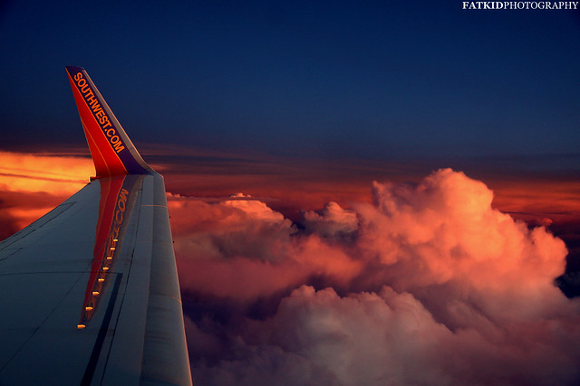 Sunset on Southwest Airlines