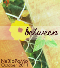 Between: NaBloPoMo October 2011