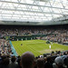 Murray vs Ljubicic on Centre Court with the roof on
