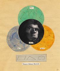 (JonHiokiArt&Design) Tags: art collage illustration jon drawing ape hioki