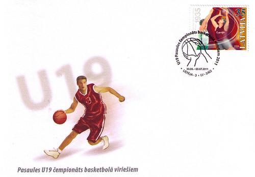 Speciālā zīmogošana par godu U19 Pasaules čempionātam basketbolā vīriešiem