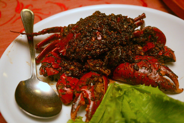 Our favourite dish of all - the black pepper crab!