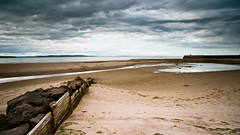 Nairn (andrew-lynch) Tags: beach wall clouds landscape rocks harbour sony 1935mm filter nd sands grad vivitar nairn a900