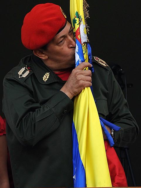 VENEZUELA-CHAVEPresidente Hugo Chávez en el balcón del puebloZ