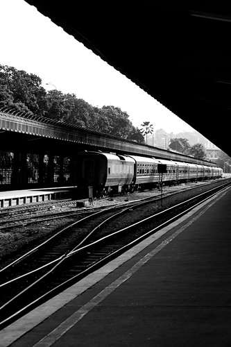 Train at Tanjong Pagar Railway Station