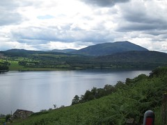Schiehallion overlooking Loch Tummel (shirokazan) Tags: uk canon cycling scotland united kingdom powershot perth cycle loch touring kinross tummel schiehallion s95 bcq