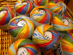 Colour makes life happy.Knitting too! (sifis) Tags: life morning summer colour art smile fashion canon happy knitting day athens hobby yarn greece cotton sakalak