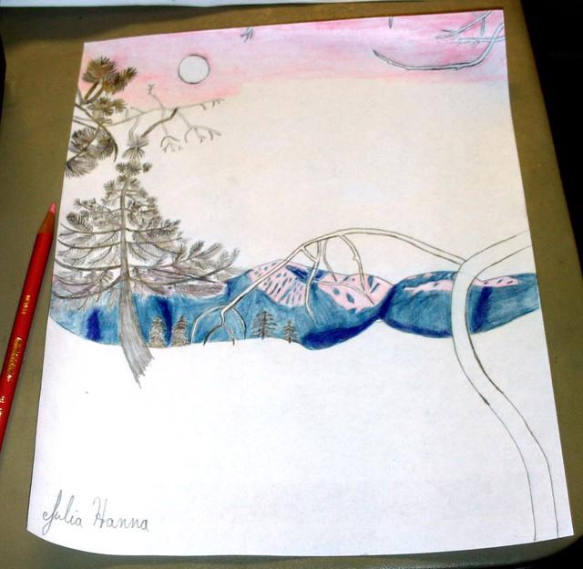 Forest Sunset Sketch: Part 5