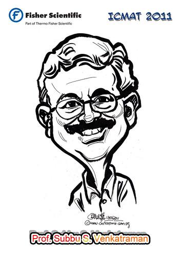 Caricature for Fisher Scientific - Prof. Subbu S. Venkatraman