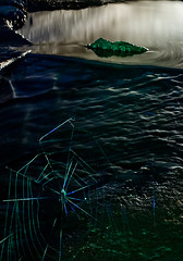 crow crawl crop (MM ©) Tags: longexposure blue lightpainting green nature water underground spider rocks stream ripple web tunnel burn slowshutter milky tyneside culvert playingwithlights urbex wallsend