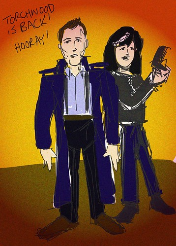 Ptw iPad Torchwood scribbling!
