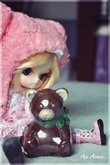 Namine and the Chocolate Teddy Bear (Au Aizawa) Tags: bear pink fashion japanese doll chocolate dal lugano frara furara somedoll