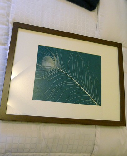 White Feather Framed