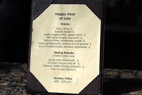 Lola - Happy Hour Snacks