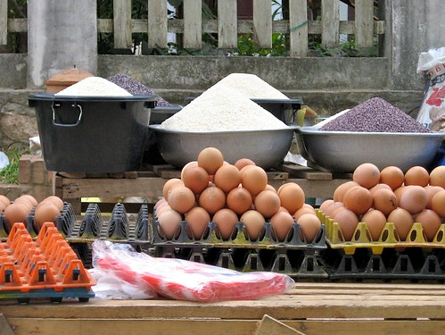 Market shot, Laos