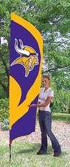 Minnesota Vikings Tall Feather Flag