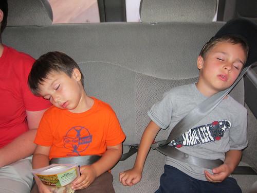 Sleepy van riders