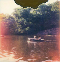 Central Park Boathouse (a-mills) Tags: nyc newyork film analog polaroid boat centralpark rowing instant boathouse impossibleproject px680