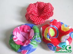 forminha para doce em tricoline chitão | em fase de teste (Cizana) Tags: flor rosa casamento buffet festa tecido colorido chitão tricoline forminha docinhhos