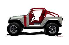 Jeep Wrangler Pork Chop (lee.ekstrom) Tags: art kyle easter sketch evans bucket aluminum jeep drawing cage safari pork seats chop week moab roll concept porkchop custom jk headers sparco wrangler bilstein lightweight dualexhaust teraflex