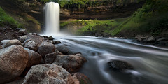 Minnehaha Falls (posthumus_cake (www.pinnaclephotography.net)) Tags: park longexposure cliff motion blur green nature water minnesota stone canon river landscape outdoors eos prime waterfall moss midwest rocks stream tripod rocky minneapolis wideangle motionblur 5d twincities mn manualfocus gitzo manfrotto minnehaha minnehahafalls uwa ultrawideangle 14mm canoneos5d manuallens samyang14mmf28ifedmcaspherical samyang14mmf28