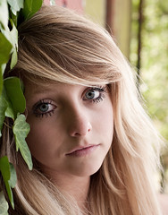 (ClaudiaJR) Tags: blue portrait woman beauty big eyes young blond ethereal d90
