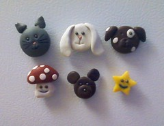0715111604 (EmBee's Web) Tags: bear dog rabbit bunny mushroom face kids cat ball project puppy children fun star pin teddy character kitty craft jewelry ring fimo ornament clay tips sculpey toadstool instructions easy cheap magnet inexpensive pendant bearings plasticine