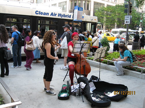 7/12/11: Street musicians, Chicago