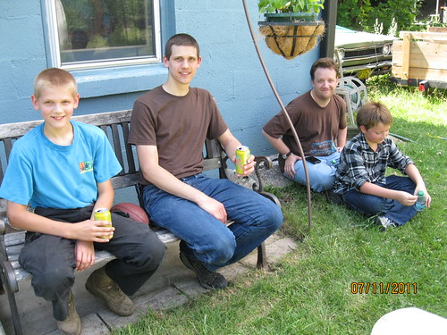 7/11/11: Ian spent time with boys.