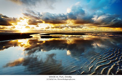 World on fire (I dont want to set the), Crosby.   HSS (Ianmoran1970) Tags: blue sea sky cloud colour reflection beach wet reflections river fire gold sand boots flame jar mersey crosby flarm hss muddyboots ianmoran ianmoran1970