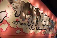 . (.parsprofoto*) Tags: show urban streetart trooper abstract art cowboys illustration print poster graffiti design flying starwars graphic teddy drawing character mullet vinyl exhibition canvas opening jukebox setup artshow vernissage dsseldorf fortress flyingfortress ackbar ausstellung 2011 inck teddytroops parsprototo frtress parsprofoto toykio jbcb