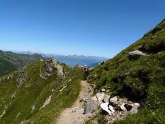 Vue sur le chemin du col Bellachat 054