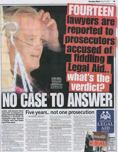 NO CASE TO ANSWER Sunday Mail 17 July 2011