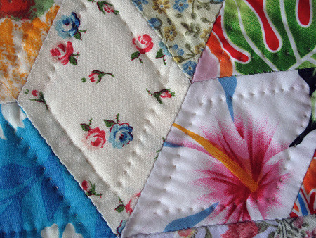 Dad's Quilt -- Quilting Detail