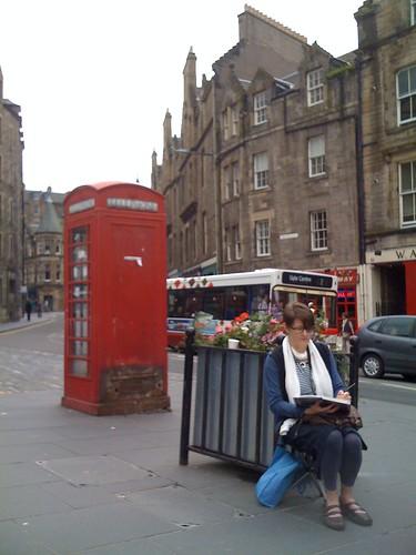 One last quick sketch in Edinburgh