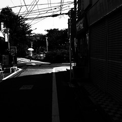 33.7 (noji-ichi) Tags: street light shadow summer bw sunlight japan tokyo afternoon   gr  ricoh   grd