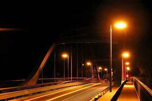 Most Dobrichovice - nocní pohled