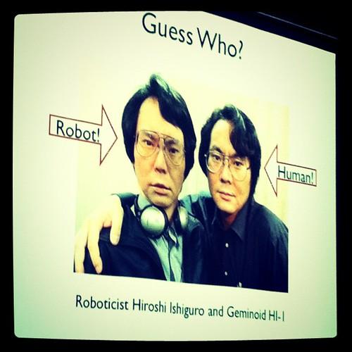 at a robot talk