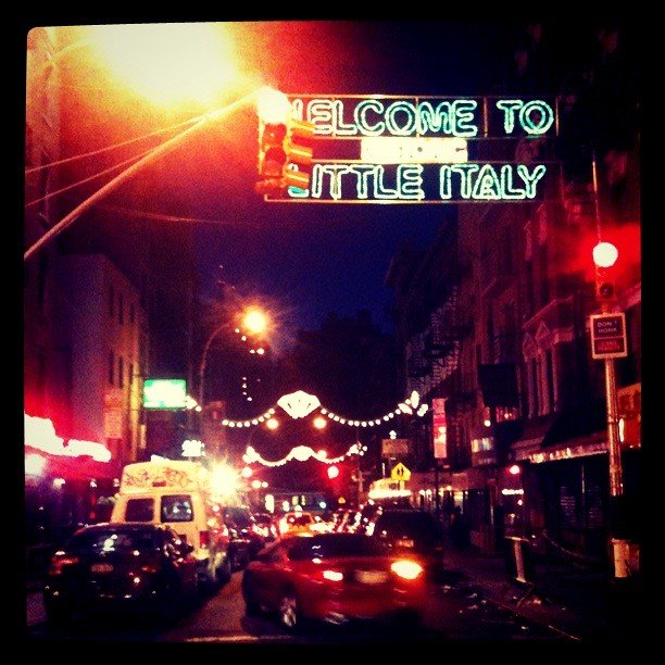 Little Italy at night